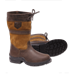 Kožené vyšší boty ELT Ascona, hnědé
