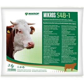 Doplňkové minerální krmivo pro skot Mikros S4B-1, 3 kg