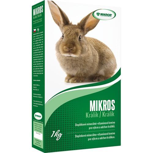 Minerální doplněk MIKROS Králík, 1 kg Minerální doplněk MIKROS Králík, 1 kg