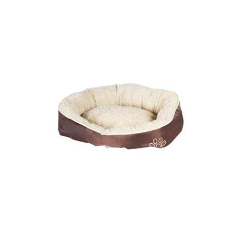 Pelíšek pro psy Nylon, hnědý, 52 x 50 x 18 cm Pelíšek pro psy Fleece, béžový, 52 x 50 x 18 cm