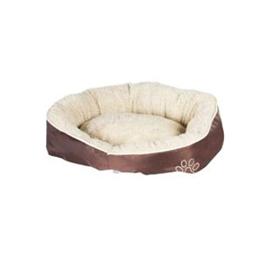 Pelíšek pro psy Nylon, hnědý, 52 x 50 x 18 cm