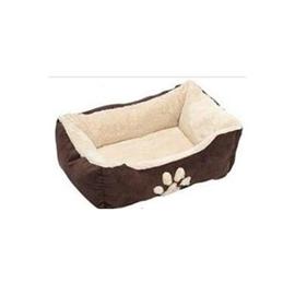 Pelíšek pro psy hnědo - béžový - 60 x 48 x 18 cm