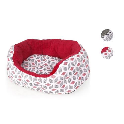 Pelíšek pro psy a kočky Cubic - červený Pelíšek pro psy a kočky Cubic, červený, 50 cm