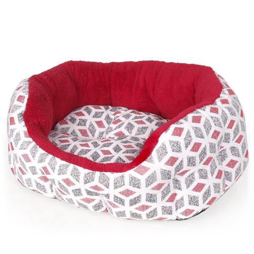 Pelíšek pro psy a kočky Cubic - červený Cubic červený
