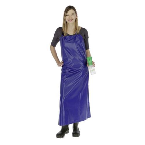 Zástěra na dojení textilní, poplastovaná 600g/m2 - modrá, 120 x 100 cm Zástěra na dojení textilní, poplastovaná 600g/m2