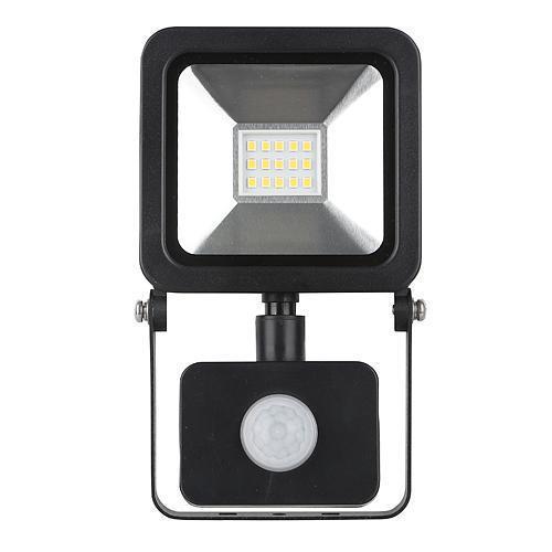 LED reflektor Floodlight s pohybovým senzorem 10W, 800 lm, IP44, neutrální bílá LED reflektor Floodlight s pohybovým senzorem 10W, 800 lm, IP44, neutrální bílá