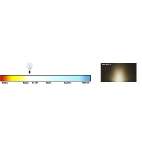 LED reflektor Floodlight s pohybovým senzorem 10W, 800 lm, IP44, neutrální bílá LED reflektor BERGE s čidlem pohybu 10W, 800 lm, neutrální bílá