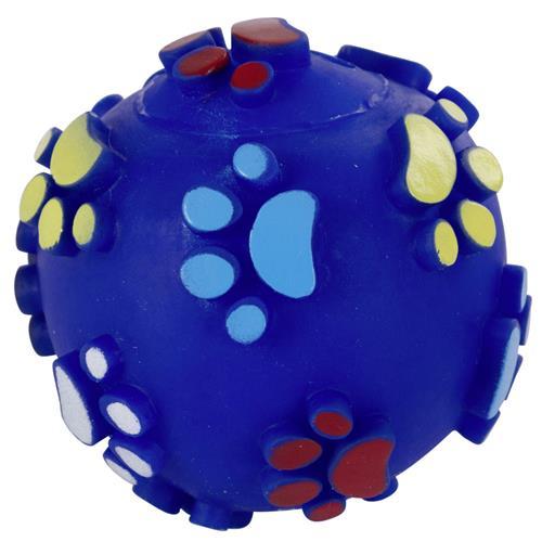 Pískací míček pro psy, 10 cm Modrý míček - ve skutečnosti je více tmavě modrý.