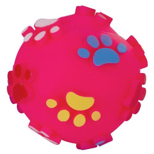 Pískací míček pro psy, 10 cm Růžový míček - ve skutečnosti je více růžový.