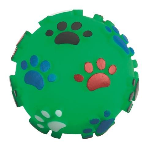 Pískací míček pro psy, 10 cm Zelený míček - ve skutečnosti je více tmavě zelený.