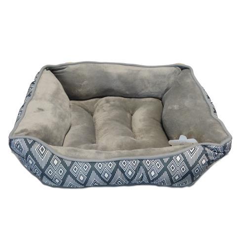 Pelíšek pro psy a kočky Vzory, antracit - 48 x 41 x 16 cm Pelíšek pro psy Vzory, antracit, S 48x41x16 cm
