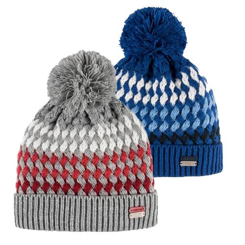 Pletená zimní čepice Euro-Star Bendi - šedo-červená Čepice zimní Euro-Star Bendi, šedo-červená