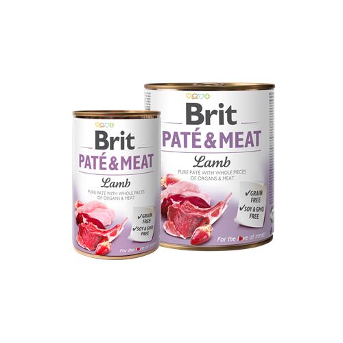 Brit Dog konzerva pro psy Paté & Meat Lamb, 400 g Konzerva pro psy Brit Paté & Meat Jehně, 400 g.