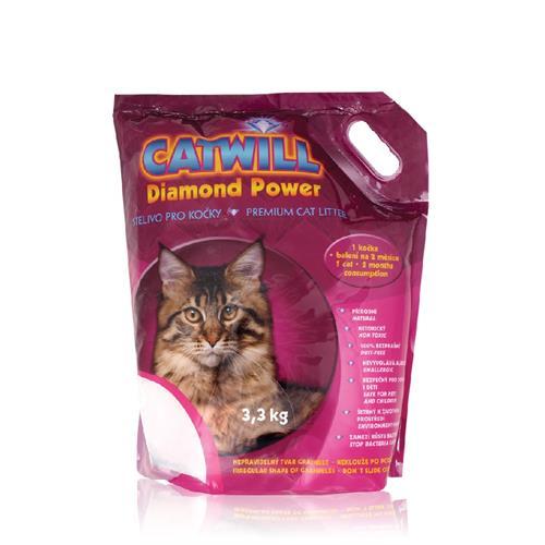 Stelivo pro kočky CATWILL Diamond Power 3,3 kg Stelivo pro kočky CATWILL Diamond Power 3,3 kg