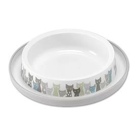Plastová mělká miska s motivem koček, 210 ml