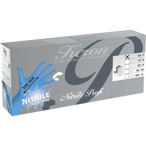 Jednorázové nitrilové rukavice Kerbl Profi, 50 ks - S Rukavice Nitril KERBL Profi, 50 ks, 0,19 mm, S