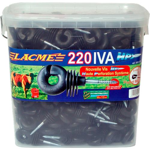 Izolátor pro elektrické ohradníky IVA HPX s vrutem 6 mm, 200 ks + montážní hlavice LACME SPEEDISO Izolátor pro elektrické ohradníky IVA HPX  s vrutem 6 mm, 200 ks + montážní hlavice LACME SPEEDISO