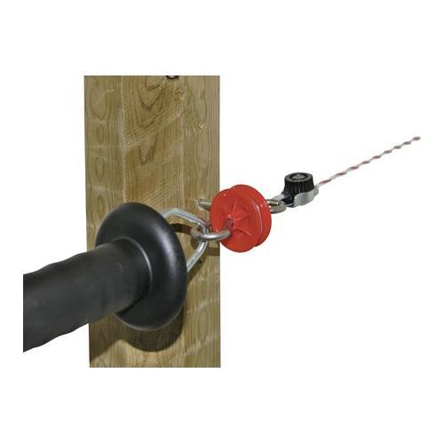 Izolátor pro elektrické ohradníky koncový k brance, otočný,  vrut 6 mm Izolátor pro elektrické ohradníky koncový k brance, otočný,  vrut 6 mm