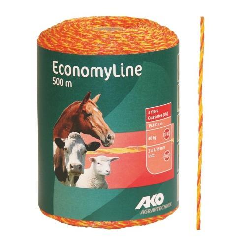 Polyetylenové lanko pro elektrické ohradníky ECONOMY 2 mm Polyetylenové lanko pro elektrické ohradníky ECONOMY 2 mm