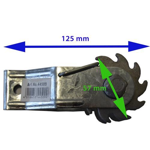 Napínák na ohradníkové vodiče s rohatkou 33038  - Napínák na ohradníkové vodiče s rohatkou - rozměry