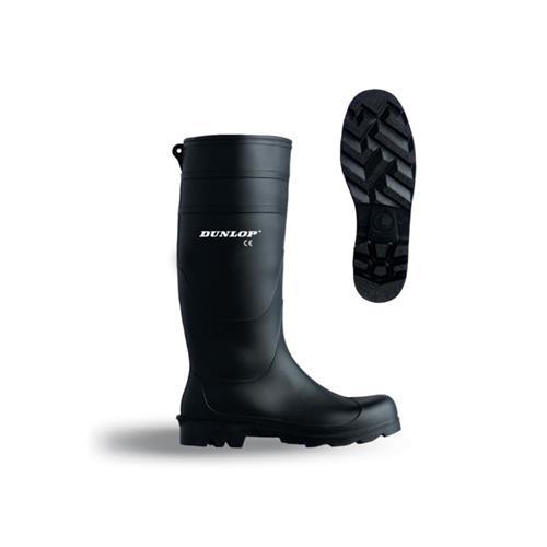 Holinky Dunlop Ecofort Universal, černé - 42/8 - černá podrážka Holinky Dunlop Ecofort Universal, černé