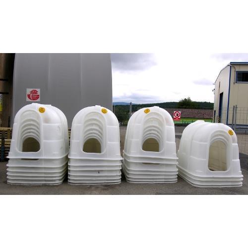 Bouda pro telata - velká CH 110 W (195×135×135 cm) bílá Bouda pro telata - velká CH 110 W (195×135×135 cm) bílá