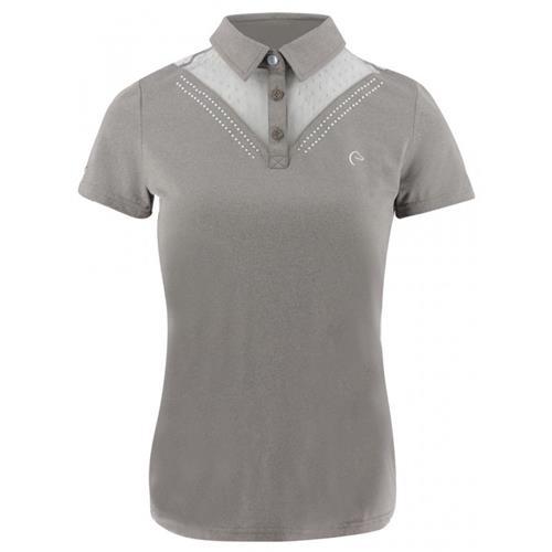 Dámské triko Equi-Theme, s kamínky - hnědé, vel. S Triko dámské Equitheme, hnědé s kamínky, vel. S