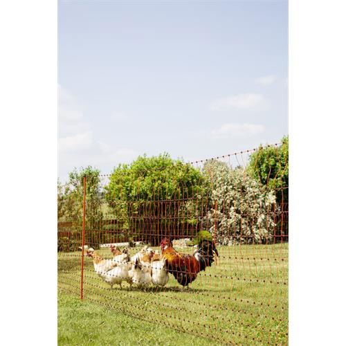 Síť pro drůbež PoultryNet, vodivá, výška 112 cm, délka 50 m, dvojitá špička Síť pro drůbež PoultryNet, vodivá, výška 112 cm, délka 50 m, dvojitá špička