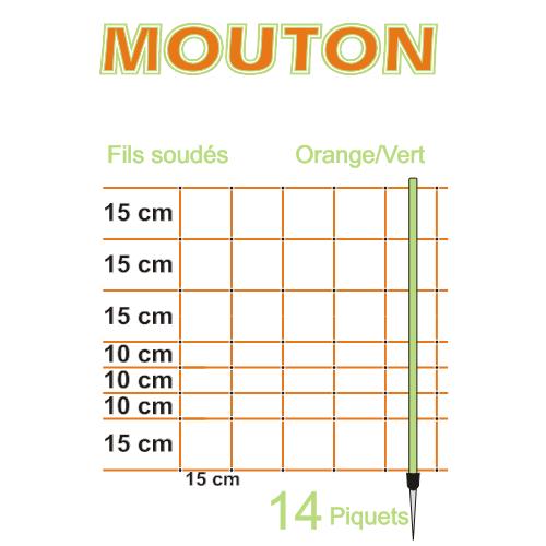 Síť pro elektrické ohradníky na ovce LACME MOUTON v. 90 cm, d. 50 m, jednoduchá špička Síť pro elektrické ohradníky na ovce LACME MOUTON v. 90 cm, d. 50 m, jednoduchá špička