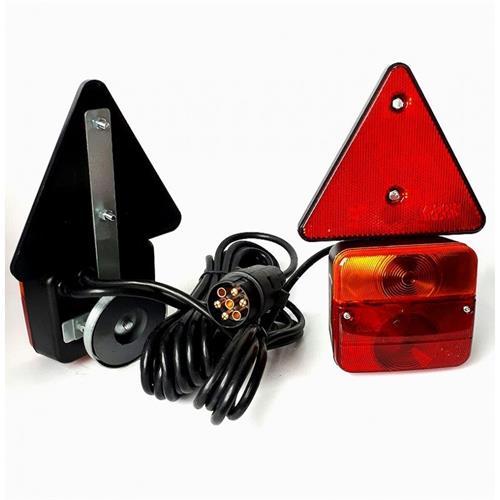 Koncová světla na přívěsný vozík, magnet + 6,5m kabelu, SET Koncová světla na magnet + 6,5m kabel SET