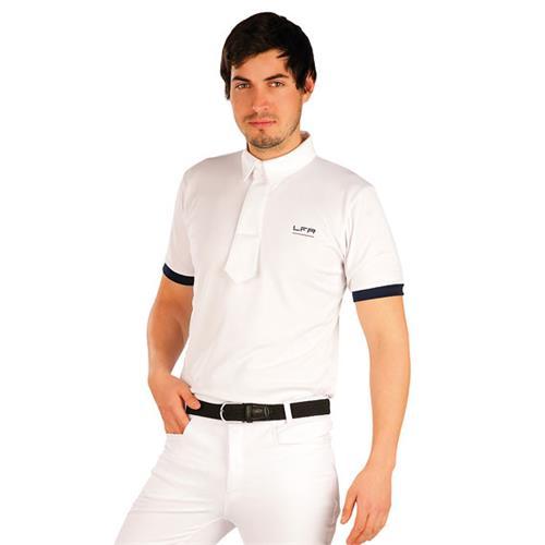 Pánské závodní triko LITEX, bílé s lemem - vel. XL Triko pánské závodní Litex, bílé s lemem, vel. XL