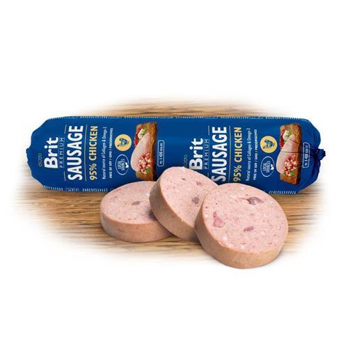 Brit Premium Sausage with Chicken & Rice 800g BRIT dog sausage chicken and rice.
