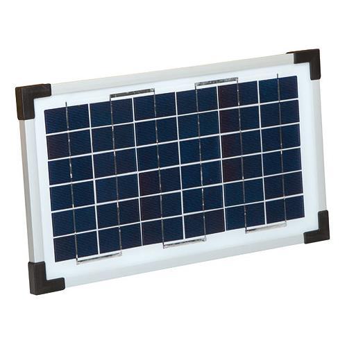 Solární panel  12V/8W pro elektrické ohradníky CP, PS a EcoPower plus Solární panel pro elektrický ohradník PS a EcoPower plus 8W/12 V + gel baterie 12V, 15 Ah + síťový a