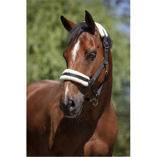 Nylonová ohlávka Ekkia s beránkem - černá, vel. Pony Ohlávka 2xpodl. ber Ekkia, černá, vel. Pony