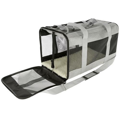 Cestovní taška pro psy Casual, 52 x 31 x 31 cm Otevřená strana.