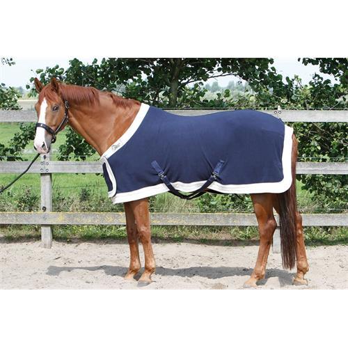 Odpocovací deka Harrys Horse Prunkmodell, modro-krémová, 115 cm Deka odpoc. HH Prunkmodell, modro bílá, 115 cm