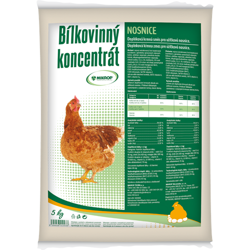 BK Nosnice MIKROP - bílkovinný koncentrát - 5 kg BK Nosnice MIKROP