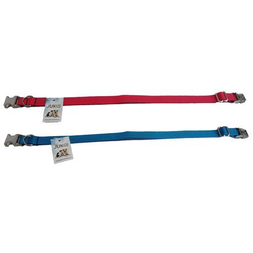 Nylonový obojek pro psy s kovovou sponou, mix barev, 24 - 40 cm Nylonový obojek pro psy s kovovou sponou, mix barev, 24 - 40 cm