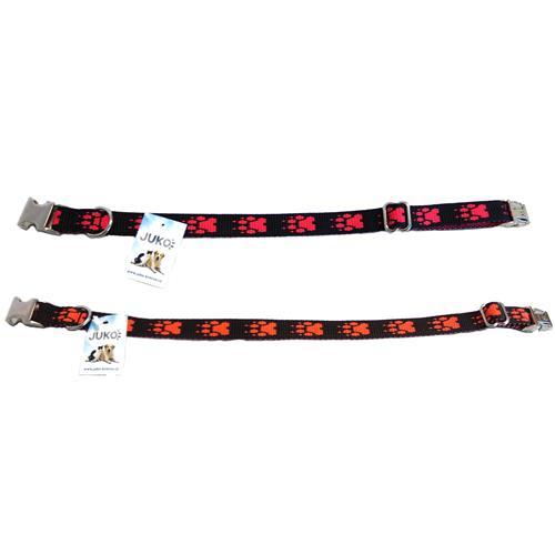 Nylonový obojek pro psy s kovovou sponou vzor tlapka, 24 - 40 cm Nylonový obojek pro psy s kovovou sponou vzor tlapka, 24 - 40 cm