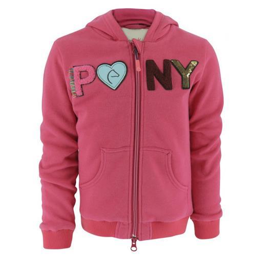 Dětská mikina Equitheme Pony - růžová, 10 let Mikina dětská Equitheme, růžová, 10 let
