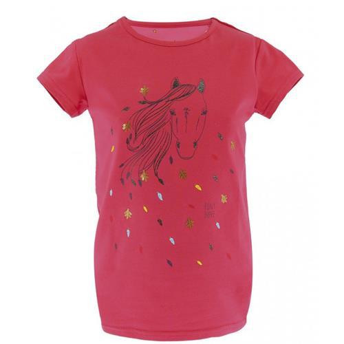 Dětské triko Equitheme Beauty - malinové, 4 roky Triko dětské EKKIA Beauty, malinové, 4 roky