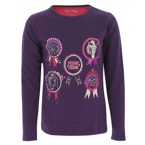 Dětské triko s dlouhým rukávem Equitheme Flot, fialové - fialové, 6 let Triko dětské EKKIA Flot, dl.rukáv, fialové, 6 let