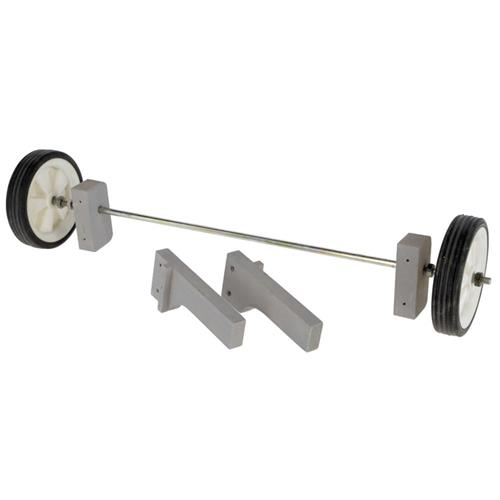 Kurník pro 5 slepic s výběhem Coop Bonny, 181 x 65 x 118 cm Set koleček - není součástí kurníku, lze dokoupit samostatně.