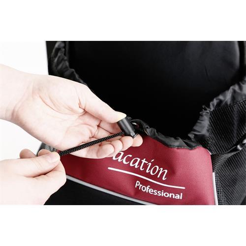 Taška - nosítko pro psy Vacation, 31 x 24 x 38 cm Detail - stahovací šňůrka.