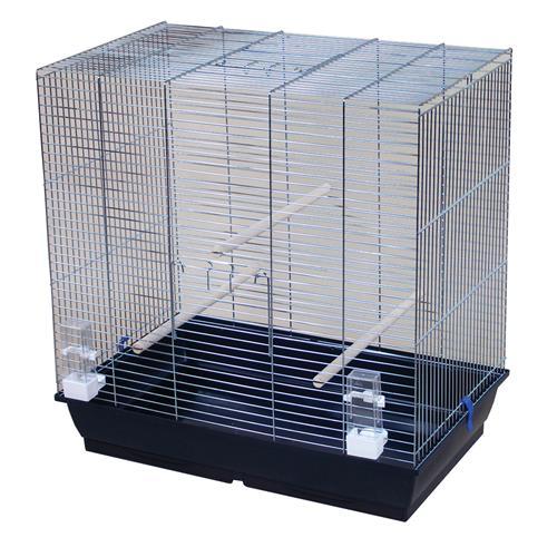 Klec pro andulky a papoušky s chromovou mřížkou Gonzo, 78 x 48 x 79 cm Klec chrom pro ptáky GONZO, 78 x 48 x 79 cm