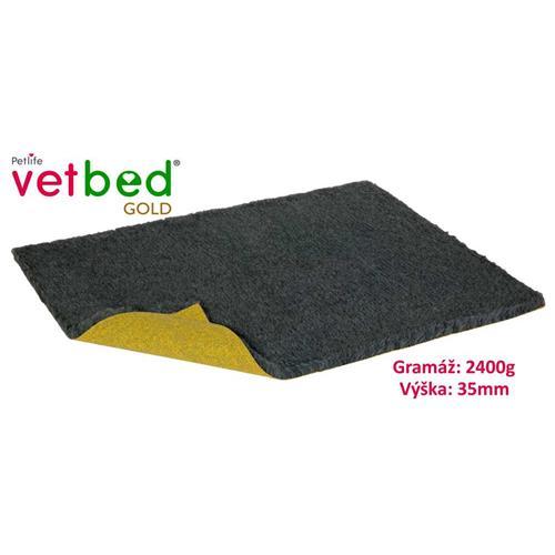 Podložka Vetbed Gold, grafitová, 2 400 g, vlas 35 mm - 100 x 75 cm Pelech Vetbed, grafitová, 2 400g.