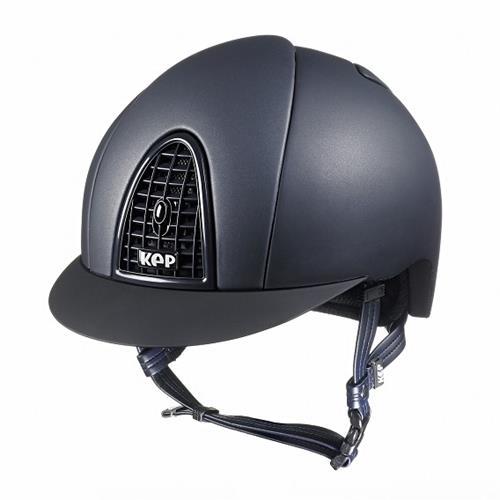Jezdecká přilba KEP Cromo Matt, černá/modrá - modrá, vel. M Přilba bezpeč. KEP Cromo Matt, modrá, vel. M