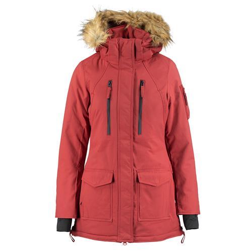Dámská zimní bunda Horze Brooke - vel. 34 Bunda zimní dlouhá Horze Brooke, červená, vel. 34