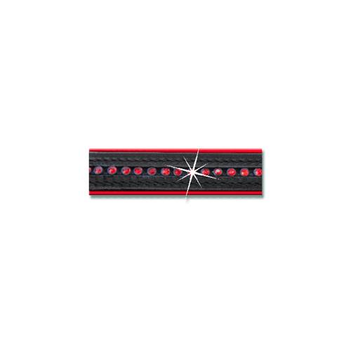 Kožená ohlávka ELT Diamond, s kamínky - červená, vel. Cob Ohlávka kožená ELT Diamond, červená, vel. Cob