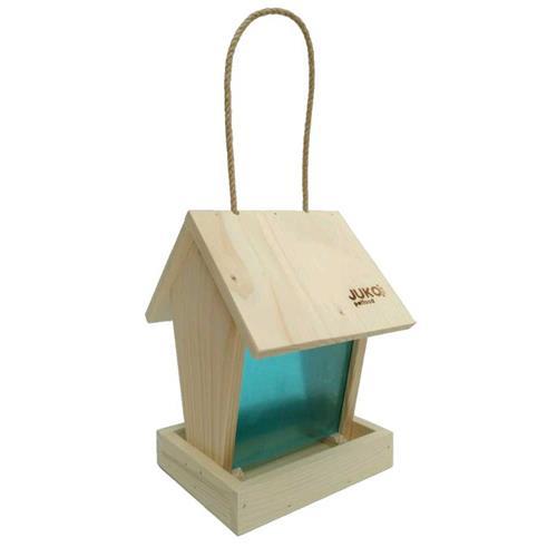 Dřevěné krmítko pro venkovní ptáčky Násyp Krmítko pro venkovní ptactvo Násyp.
